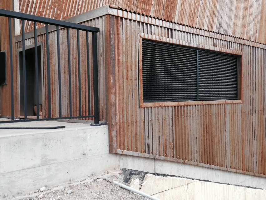 7/8 Corrugated Weathering Steel on Winery