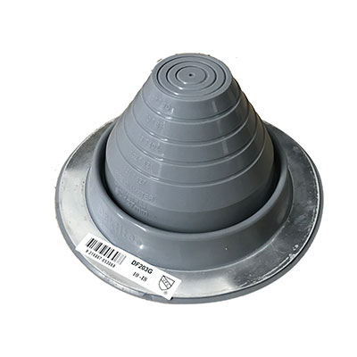 Forma Steel Accessories: Plumbing Flashings Grey Silicone
