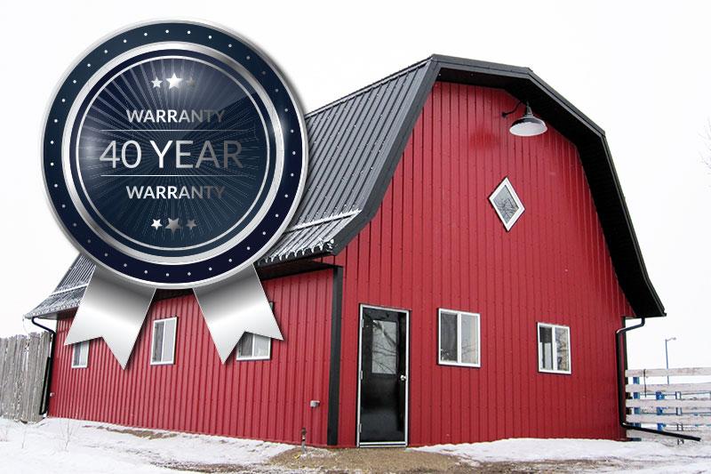 40 Year Forma Steel Paint Finish Warranty