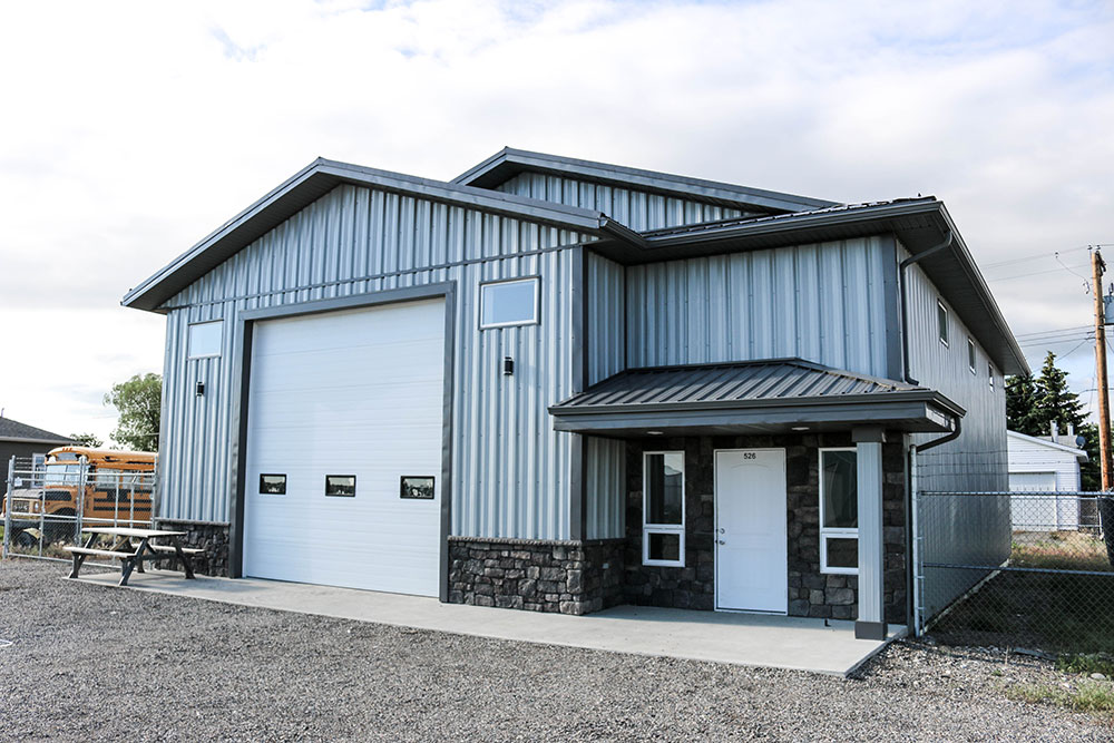 Commercial Building featuring FA Panel Siding in Regent Grey and FC-36 Panel
