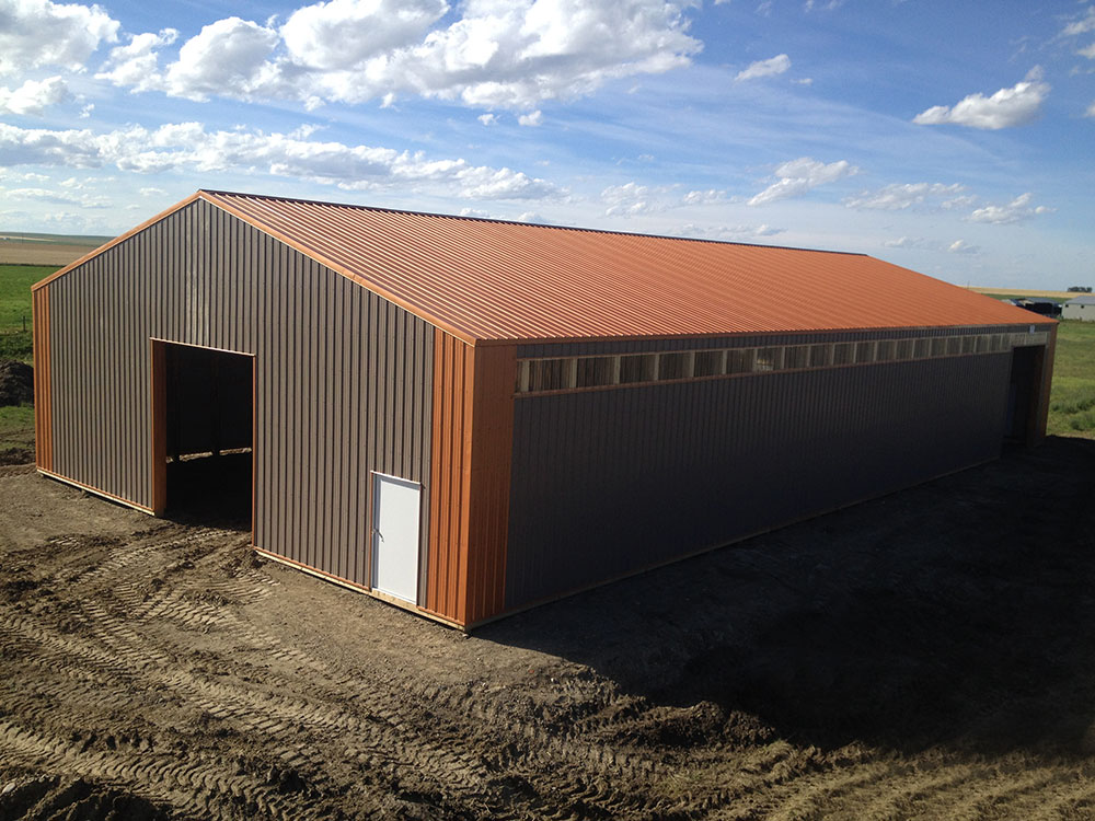 Agricultural Building featuring FC-36 Siding in Coffee Brown and FC-36 Trim & Roof in Copper Penny
