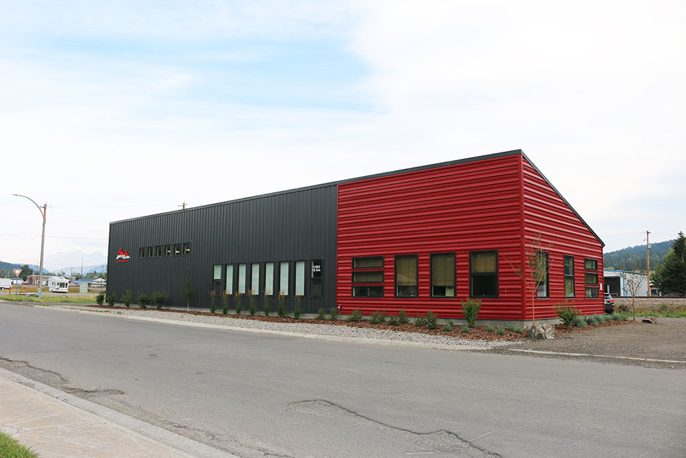 Commercial Distribution Centre featuring FR Panel in Black and FA Panel in Dark Red