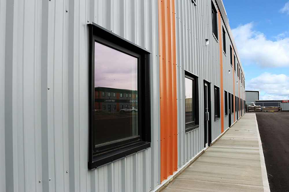 Commercial Office Space featuring FR Panel in Regent Grey and Copper Penny