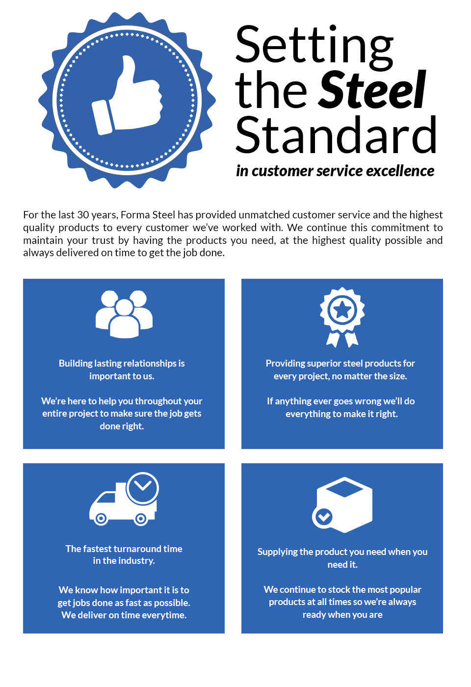 Setting the Steel Standard in Customer Service Excellence