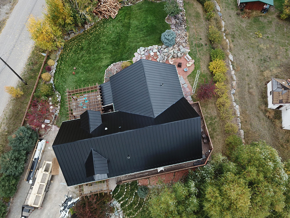 "Residential Roof in Black 16"" FormaLoc with Striations"