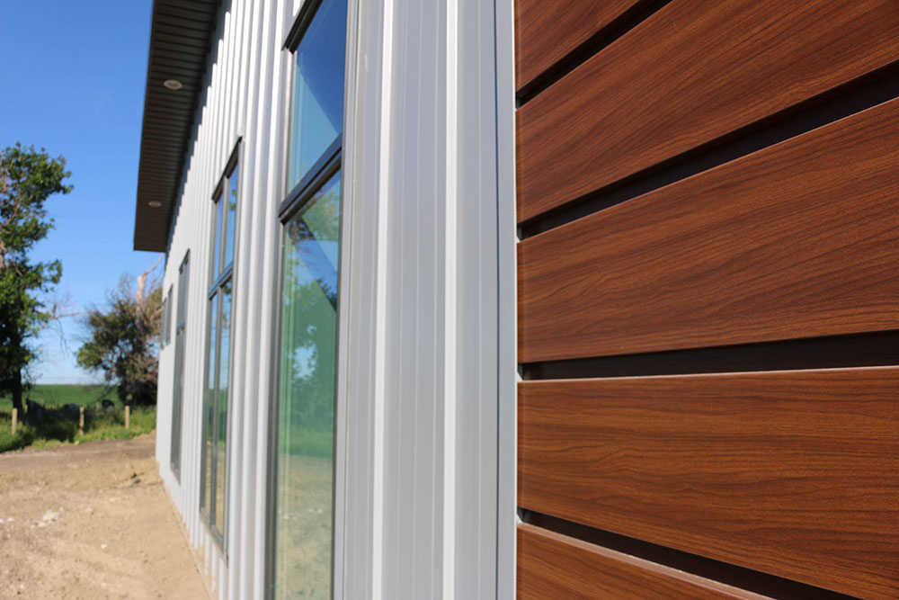 Commercial Office with Espresso Woodgrain FormaPlank and Regent Grey FormaLoc Siding
