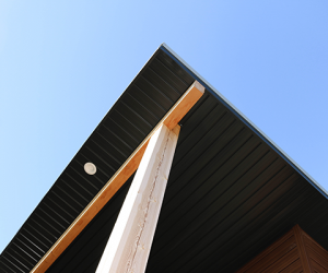 Vented Soffit in Black - Forma Steel