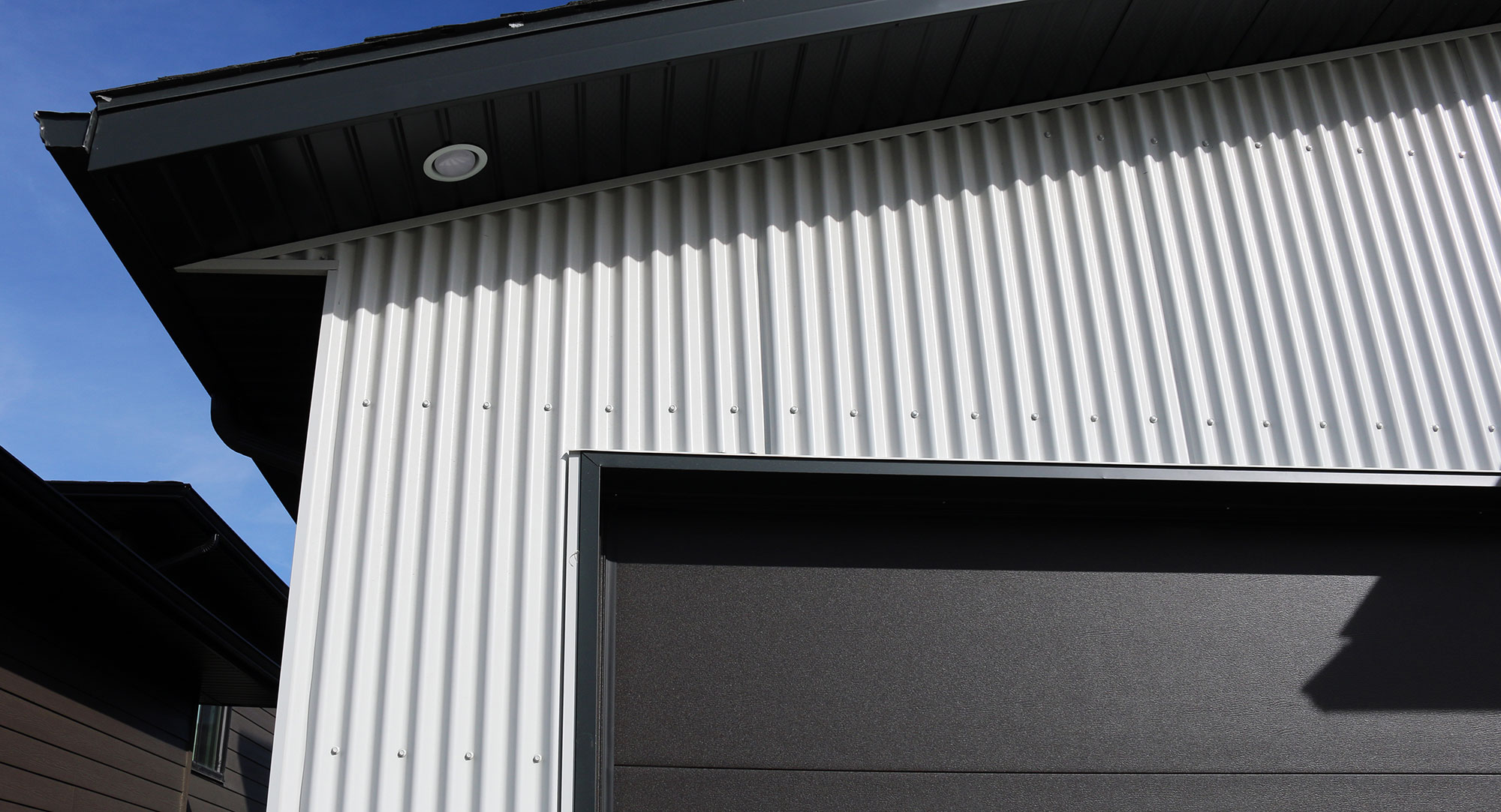 7/8 Corrugated Metal Siding in Bright White by Forma Steel