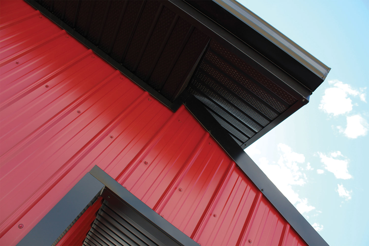 Commercial Building with FC-36 Panel in Dark Red
