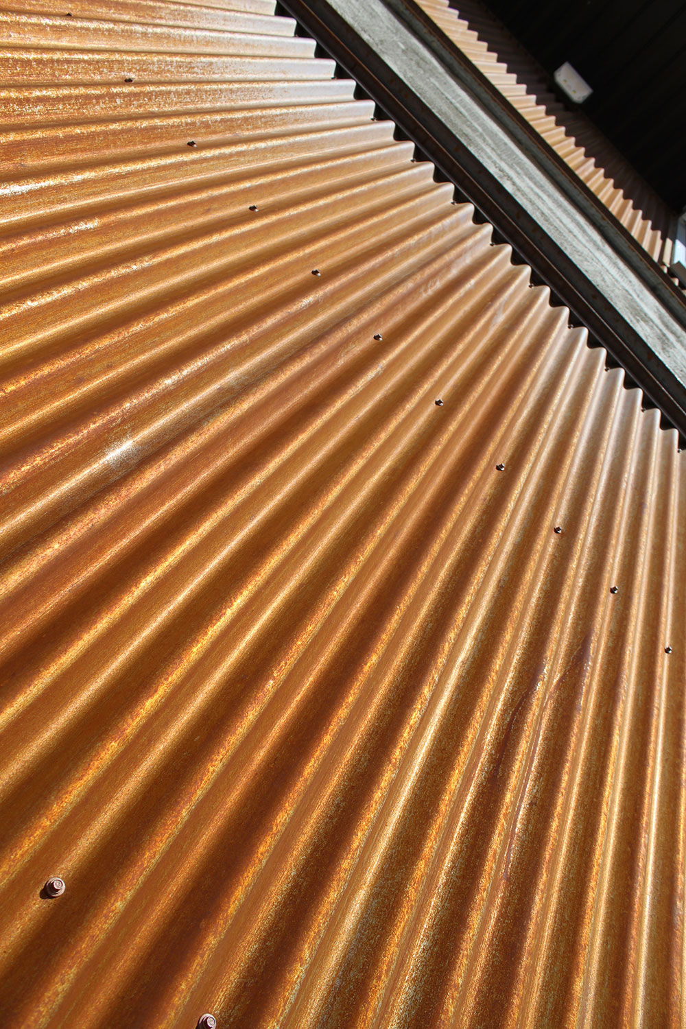 Commercial Office with 7/8 Corrugated Panel in Weathering Steel
