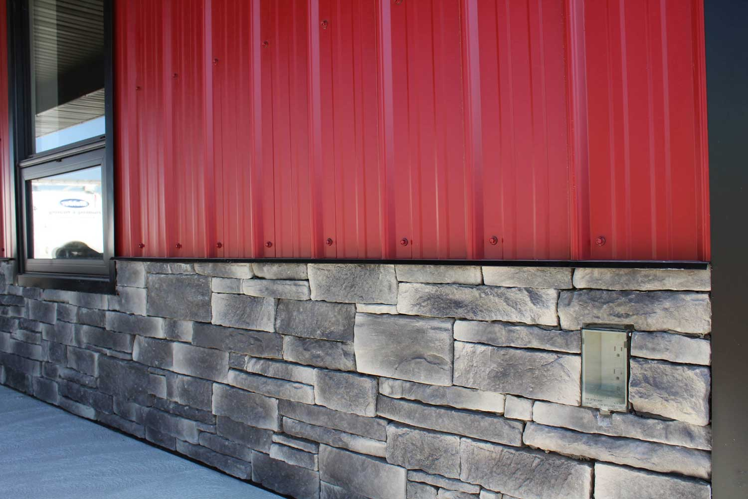Commercial Building with FC-36 Dark Red