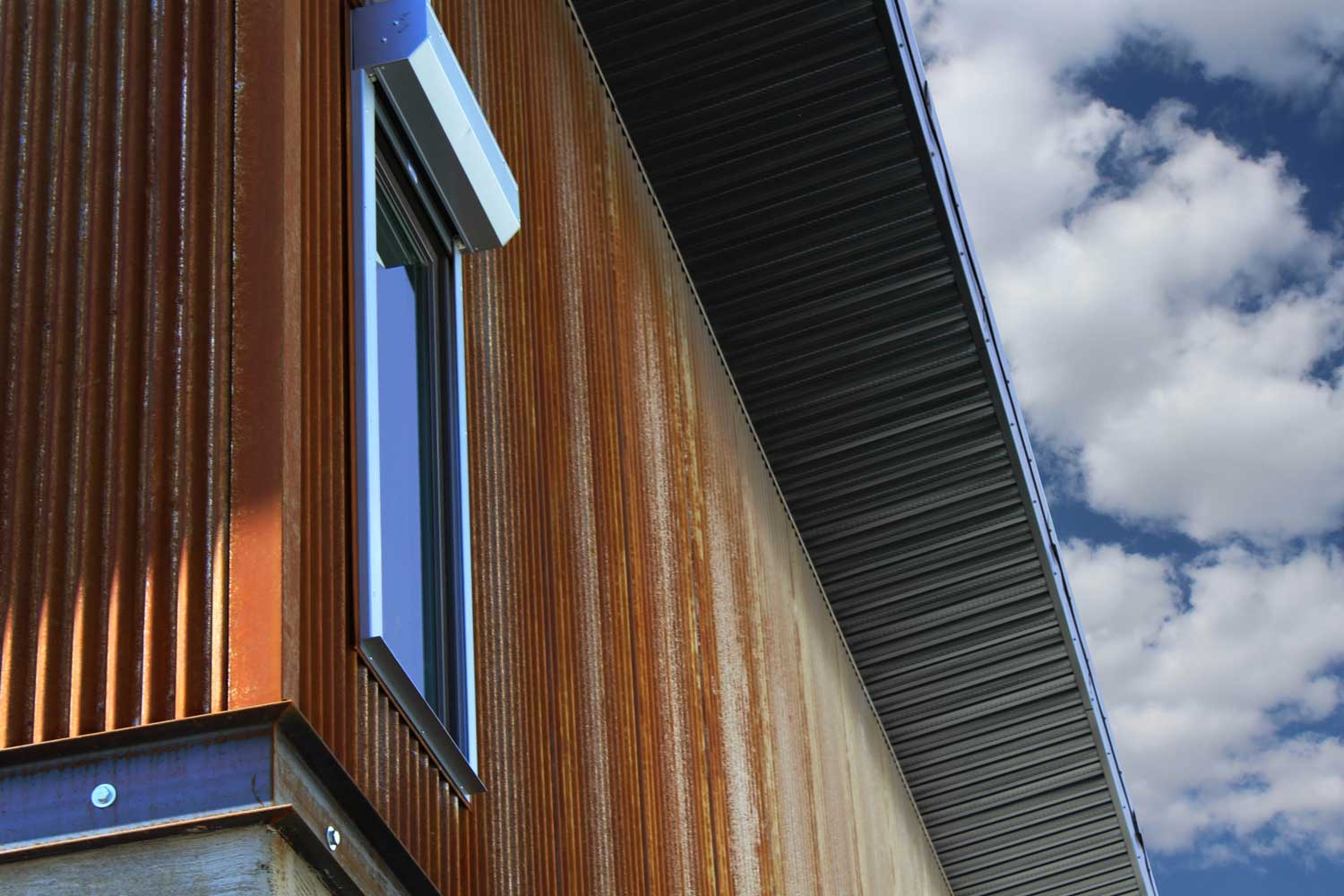 Commercial Building with 7/8 Corrugated Weathering Steel