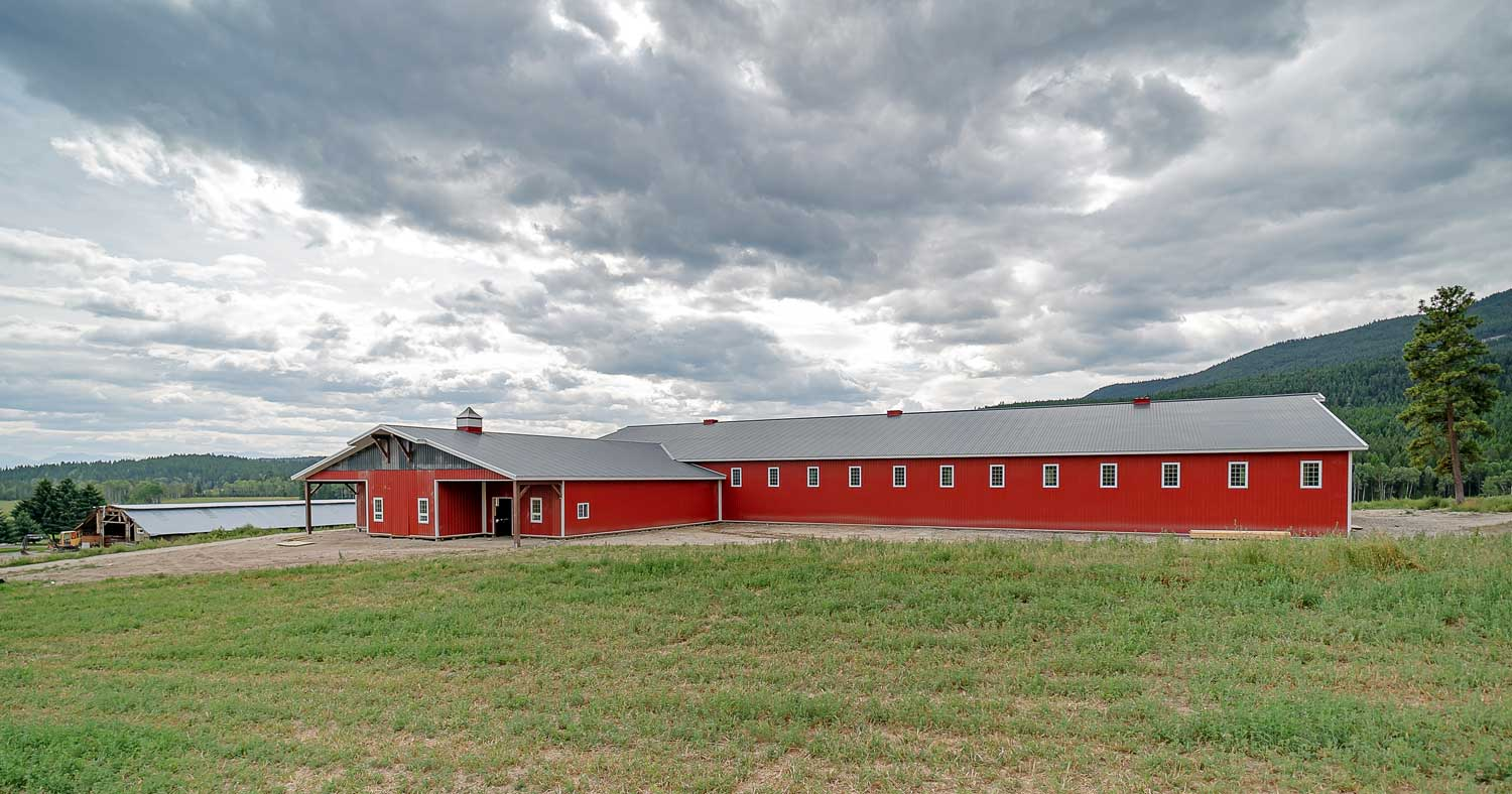 Agricultural Building with Bright Red FC-36