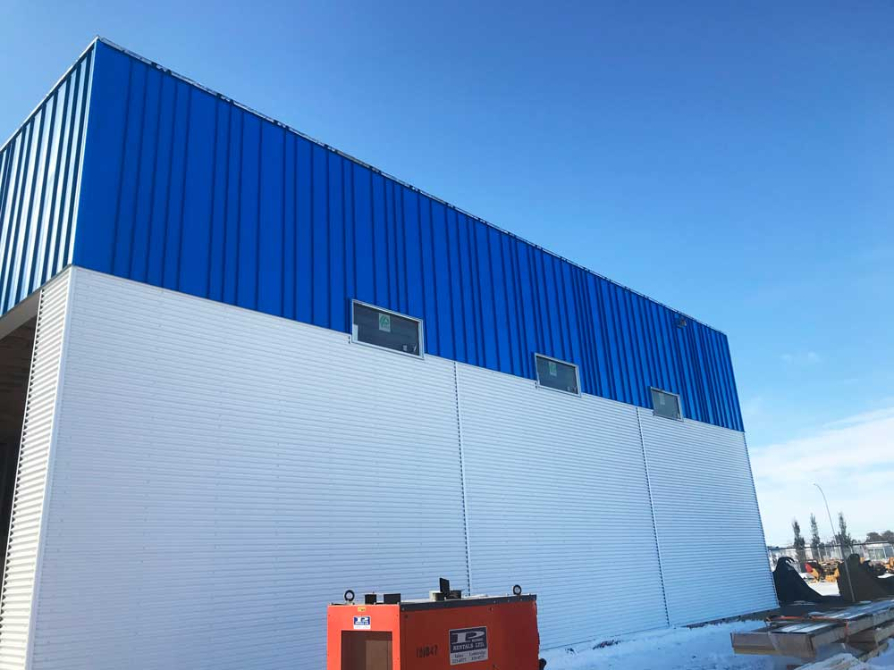 Commercial Building with Royal Blue Clip Loc