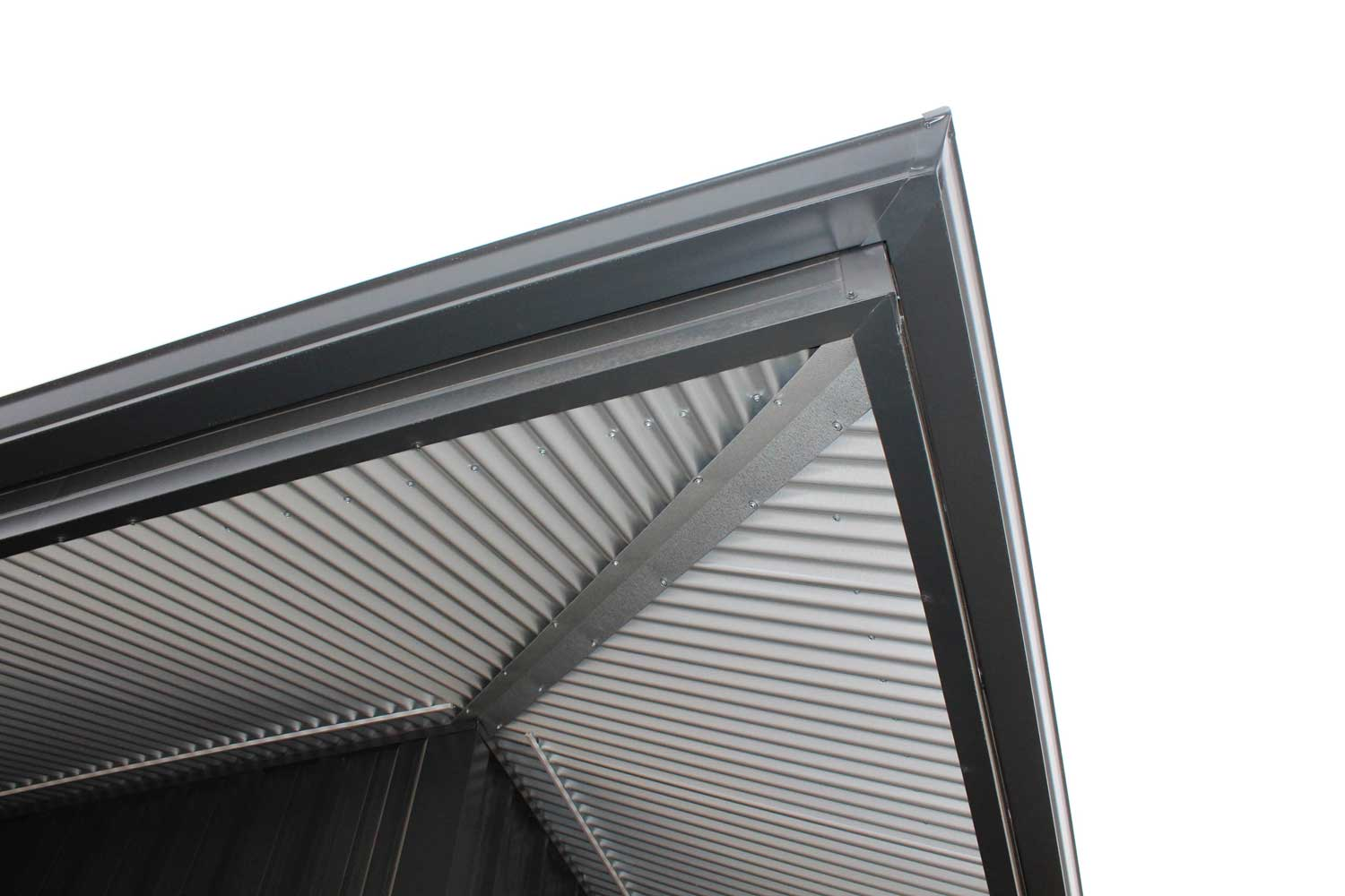 Commercial Building with Corrugated Soffit