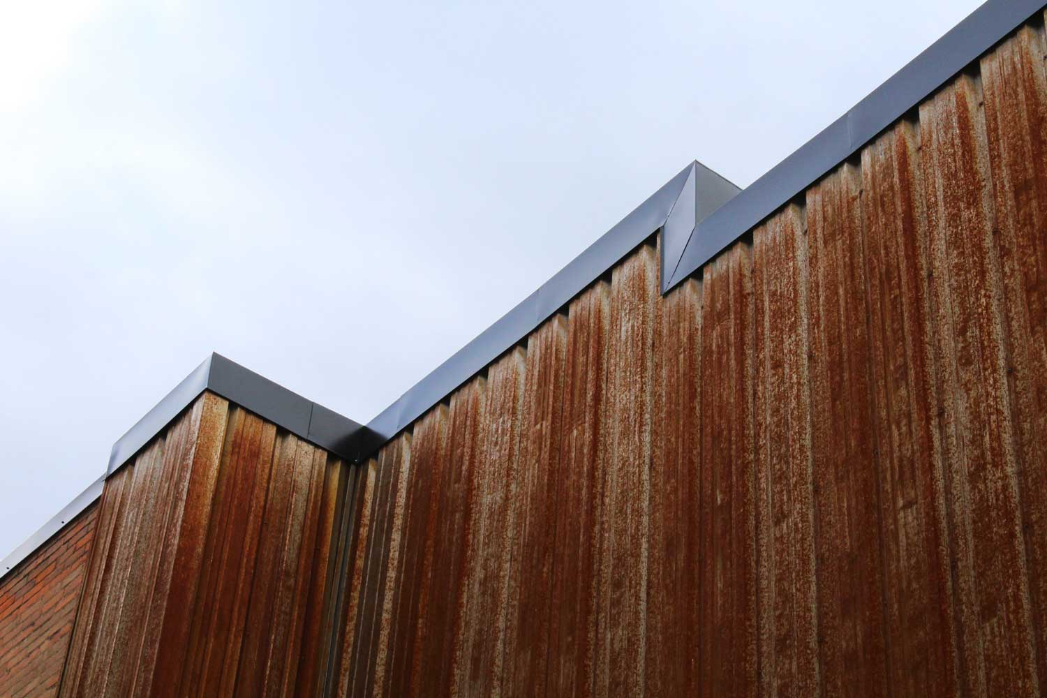Commercial Building with FR Panel Weathering Steel