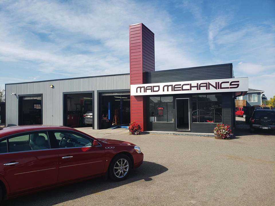 Commercial Building with Dark Red Forma Plank