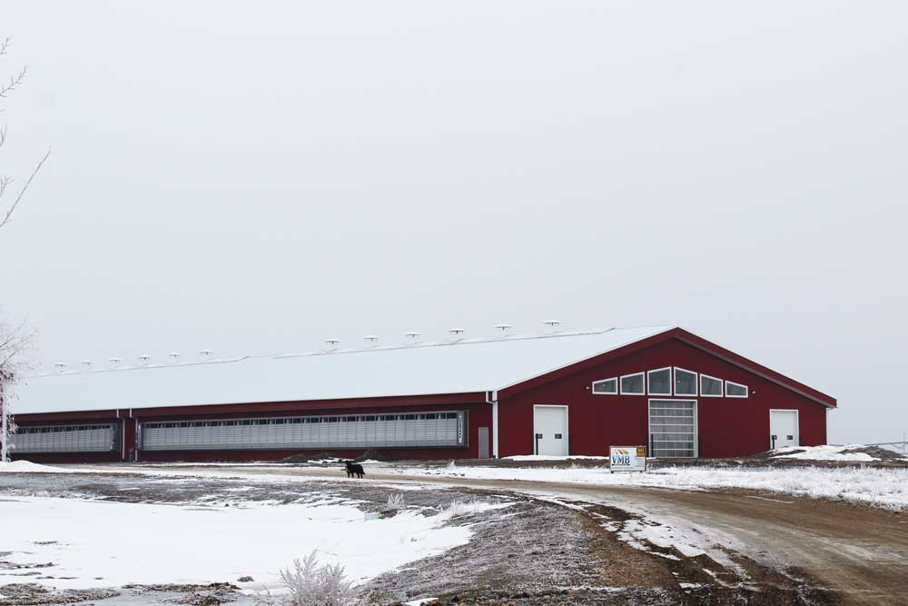 Large Dairy Barn with Bright Red in FC-36